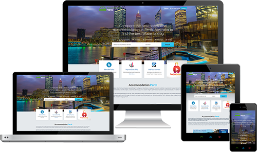 Accommodation Perth displayed beautifully on multiple devices